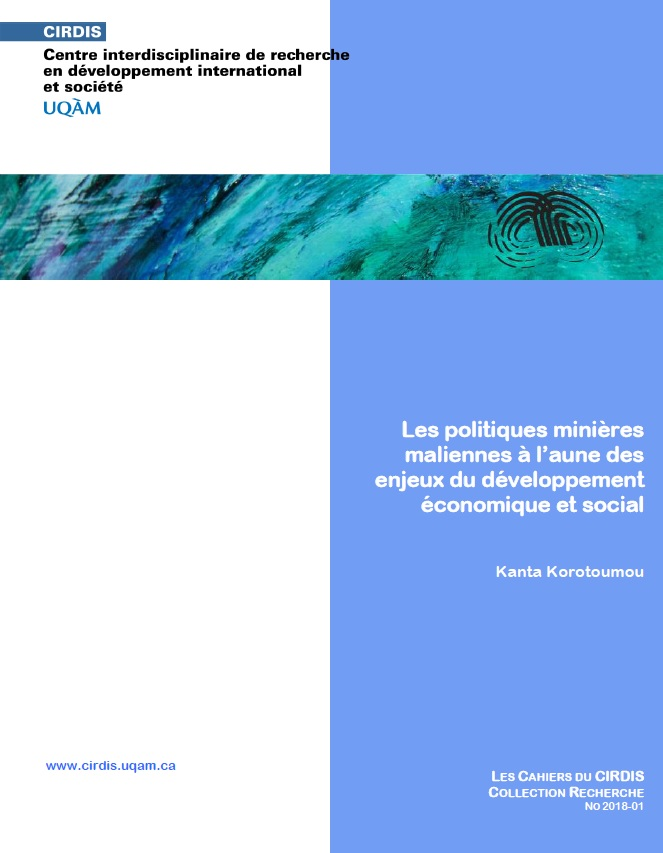 Les politiques minières maliennes à l'aune des enjeux du développement économique et social