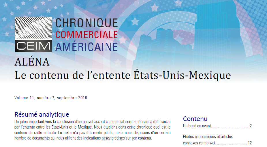 Le contenu de l'entente États-Unis - Mexique