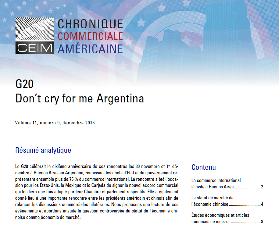 G20 Don't cry for me Argentina
