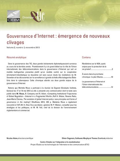 Gouvernance d'Internet : émergence de nouveaux clivages